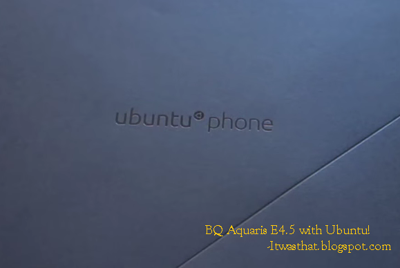 BQ Aquaris E4.5 Ubuntu Edition with scopes