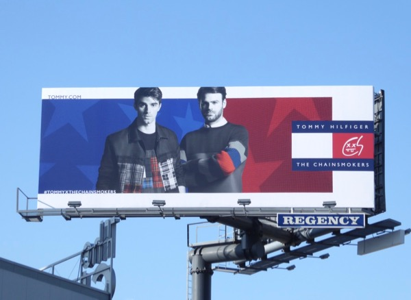 Tommy Hilfiger Chainsmokers FW17 billboard