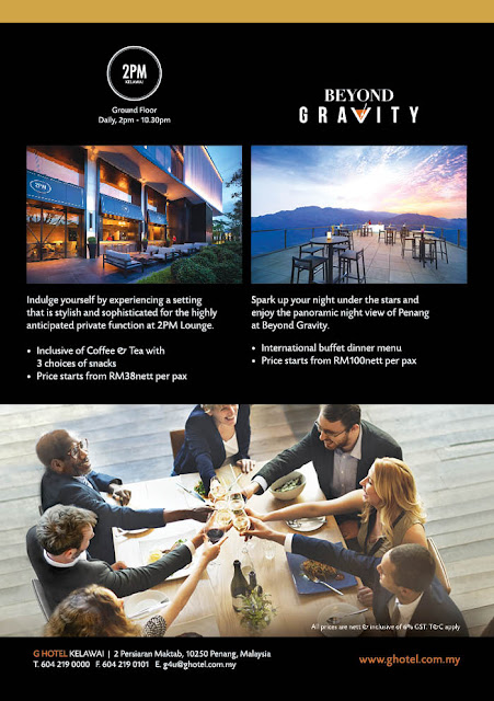 Gathering Package @ 2PM & Beyond Gravity at G Hotel Kelawei, Penang