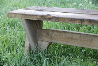 Picnic table bench support