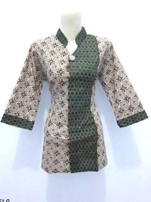 model baju batik kerja guru kombinasi