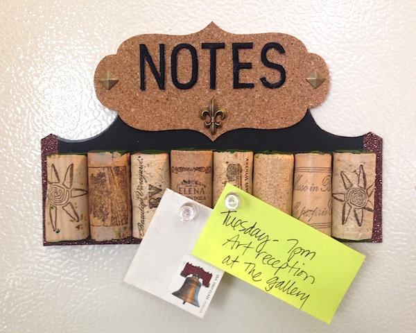 mini wine cork board by lisa fulmer