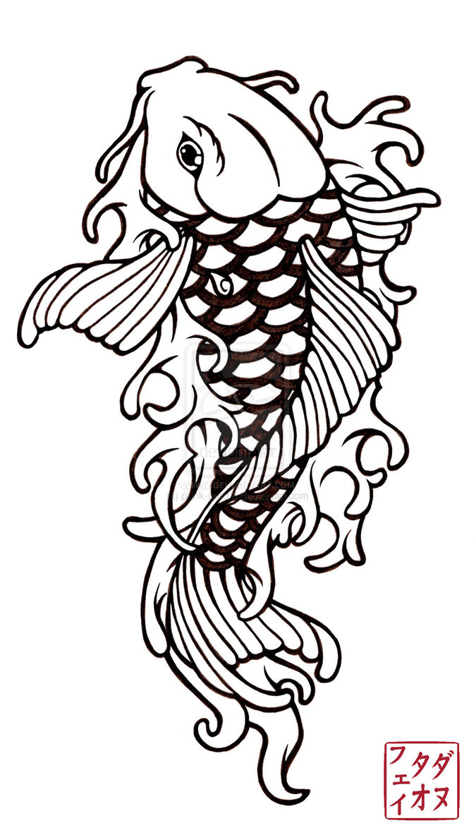 Japanese Tattoos: Fish koi Tattoo Design