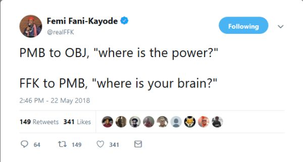 "Politics Today: ""Where Is Your Brain?"" – Fani-Kayode Asks President Buhari"