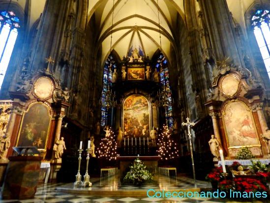 Interior de la Catedral de Viena - visitar Viena en 3 días