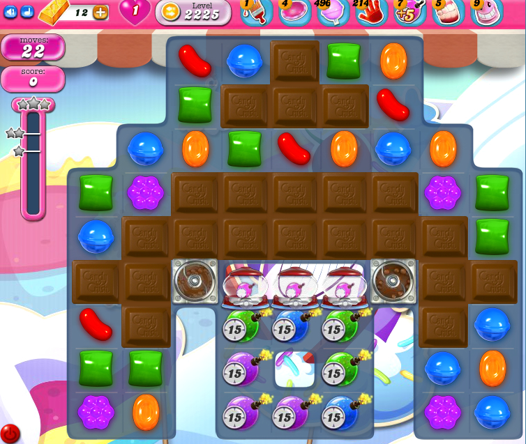 Candy Crush Saga level level 2225