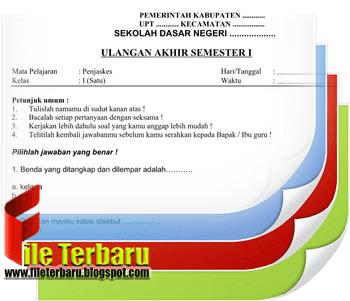 Download Soal UAS Penjaskes / PJOK Kelas 1 SD / MI Semester 1 Lengkap