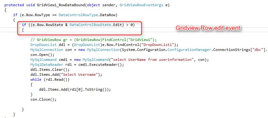 Below Code For Gridview Edit Template Bind Coding