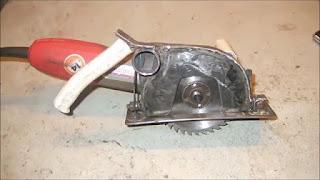 membuat circular saw sendiri dari gerinda tangan
