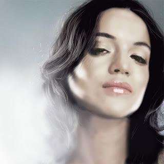 ilustración de mujer retoque digital