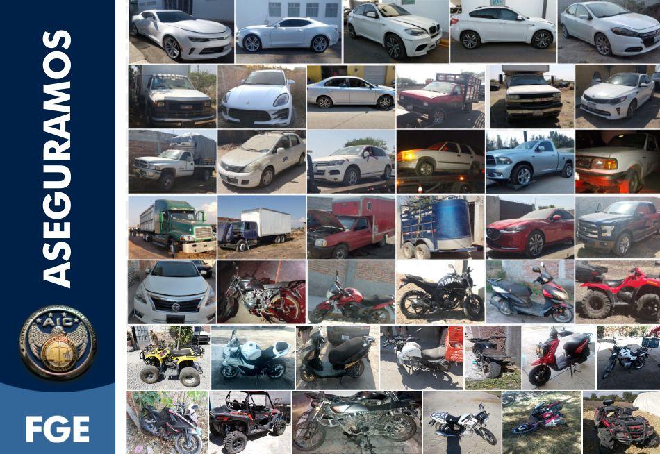 El Marro decía que solo el CJNG se metía con la gente en Guanajuato, pero en su guarida le aseguran 112 vehículos robados