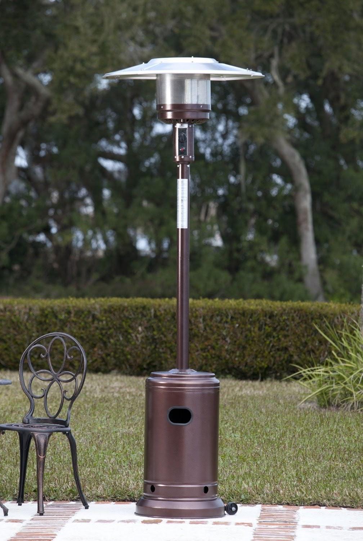 Fire Sense Hammer Tone Bronze 46,000 BTU Commercial Grade Propane Patio  Heater. U003eu003e