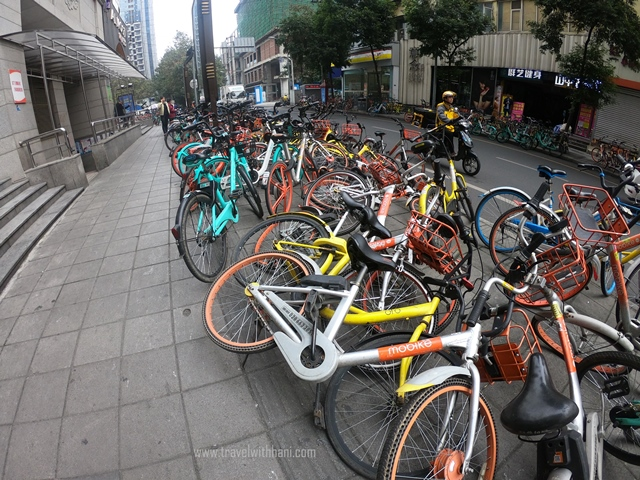 Cara Menyewa Basikal di Chengdu, China