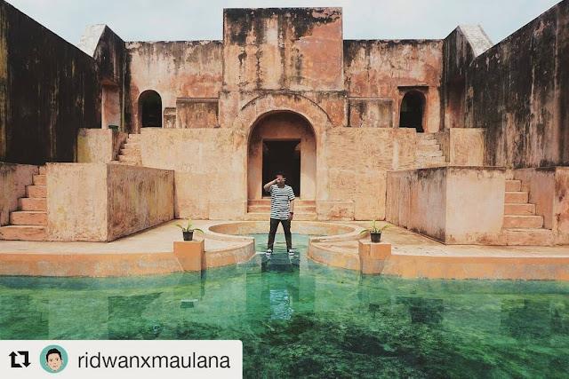 Spot Selfie Bersejarah Keren Situs Warungboto Yogyakarta