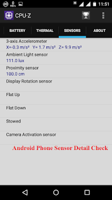 Android Mobile Sensor Detail