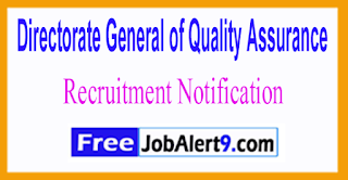 DGQA Directorate General of Quality Assurance Recruitment Notification 2017 Last Date 30-06-2017