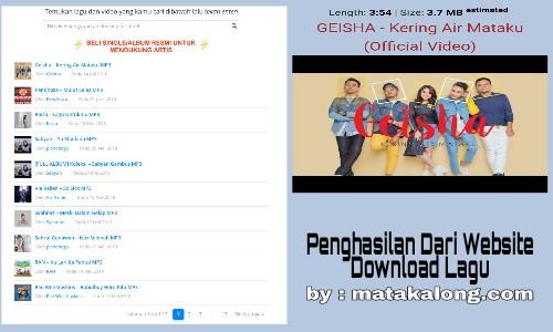 Cara Mendapatkan Uang Dari Website Download Lagu