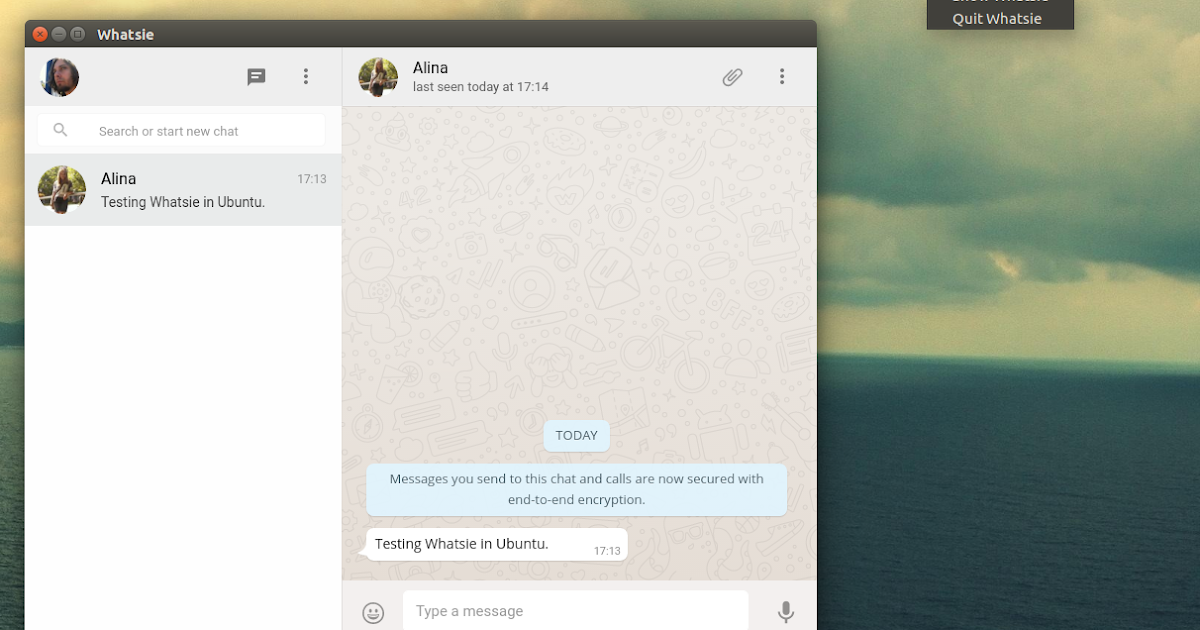 Use WhatsApp On Your Linux Desktop With Whatsie ~ Web Upd8