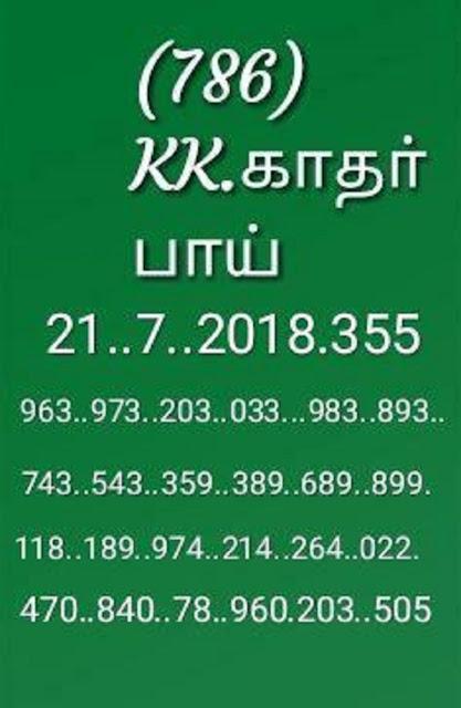 kerala lottery abc guessing on 21-07-2018 karunya KR-355 by KK