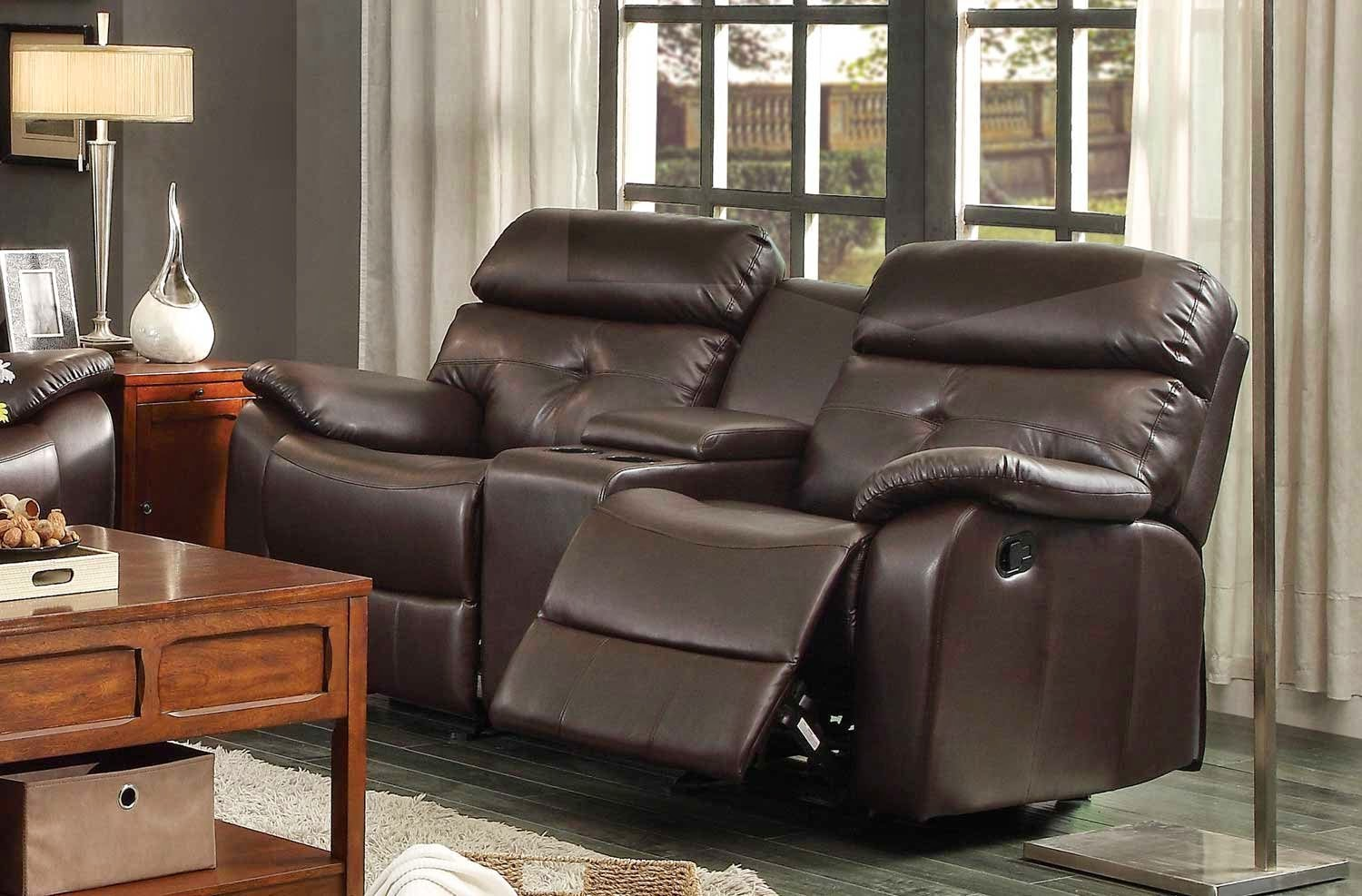 Homelegance Dark Brown 2 Seat Reclining Leather Sofa : 2 seat reclining leather sofa - islam-shia.org