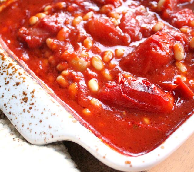 Oppskrift Bakte Hjemmelagde Tomatbønner