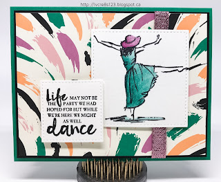 Linda Vich Creates: Beautiful You. Watercolor pencils blended with Clear Wink of Stella add flair to a stamp from the Beautiful You stamp set.