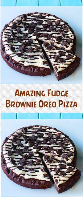 Amazing Fudge Brownie Oreo Pizza