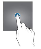 Tocco semplice dello schermo con uno solo dito