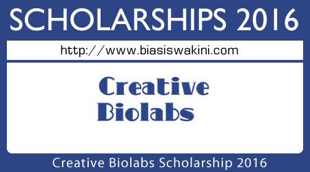 Creative Biolabs Scholarship 2016