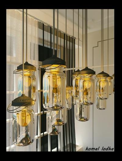 1. Desain lampu mason 3D (tiga dimensi)