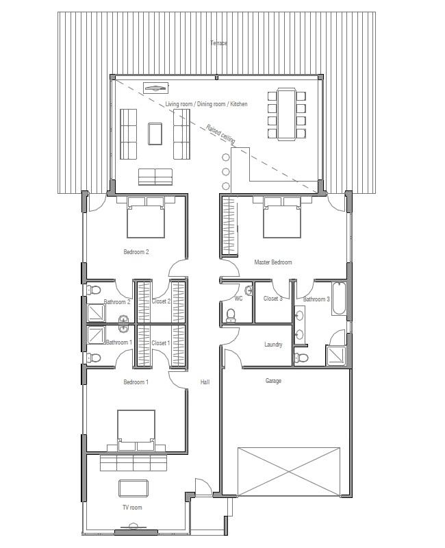 Home Designs Australia Floor Plans: Australian House Plans: Modern House Plan CH147