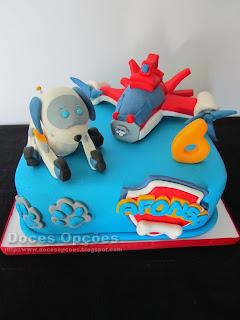 Bolo de aniversário Robo-Dog Patrulha Pata
