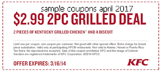 Kfc coupons for april 2017