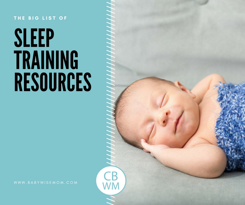 The Big List of Sleep Training Resources