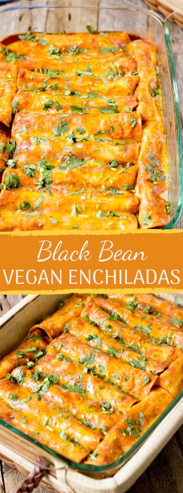 Black Bean Vegan Enchiladas #easyrecipe #meatless
