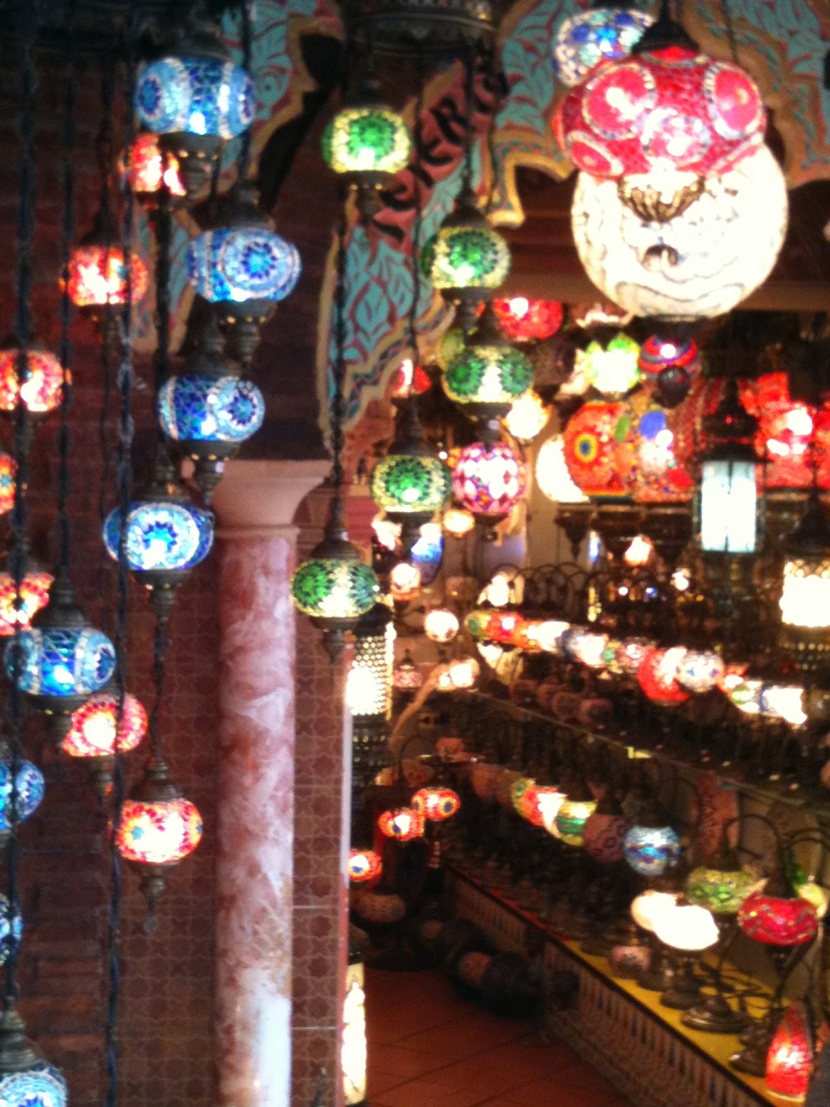 Granada - A lamp shop in the Albayzin