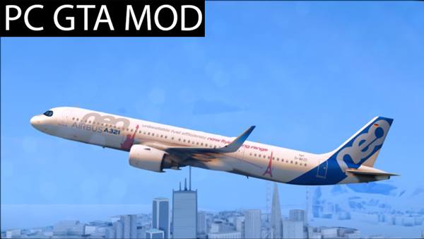 Free Download  Airbus A321LR  Mod for GTA San Andreas.