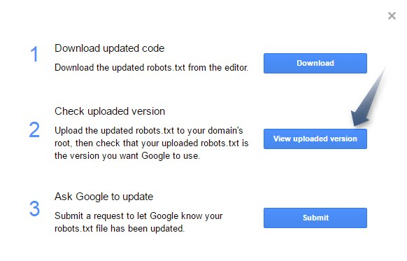 Submit robots.txt file to Google Step4
