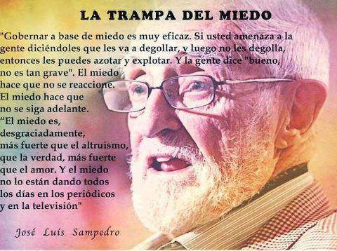 Resultado de imagen de El Poder del Miedo José Luis Sampedro 2012