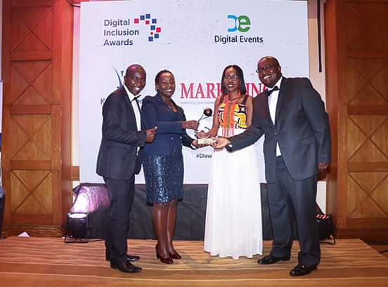 Tala Team accepting Diaward Kenya 2017