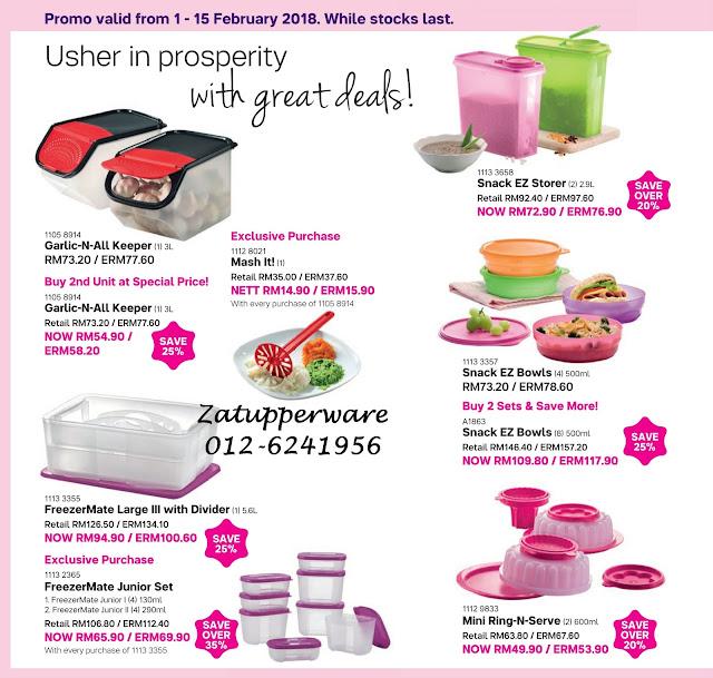 Tupperware Mini Catalogue 1st February - 28th February 2018
