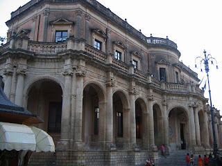 The Palazzo Ducezia, designed by Vincenzo Sinatra, is one of the Sicilian Baroque palaces in the rebuilt city of Noto