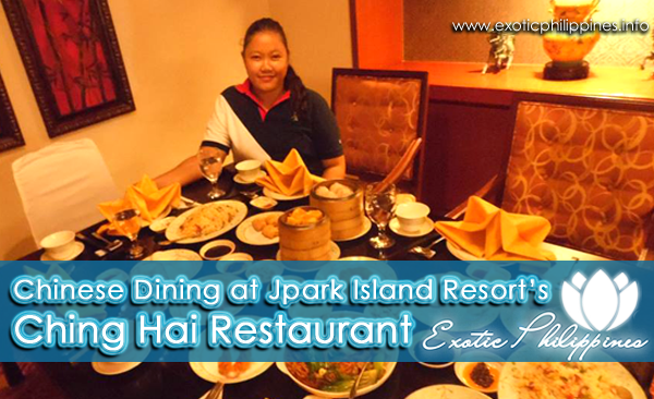 Chinese Dining at Jpark Island Resorts Ching Hai Restaurant