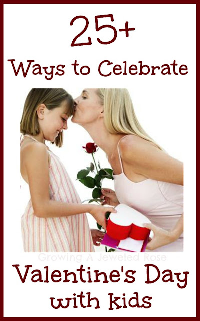 There are so many fun ways to celebrate Valentine's Day with kids!  Here are over 25 ways to show your little loves just how special they are. - See more at: http://www.growingajeweledrose.com/2013/02/celebrating-valentines-day-with-kids.html#sthash.lX7YCZ5f.dpuf