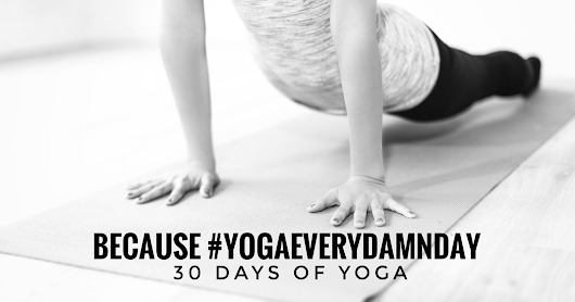 Because #yogaeverydamnday // 30 days of yoga camp