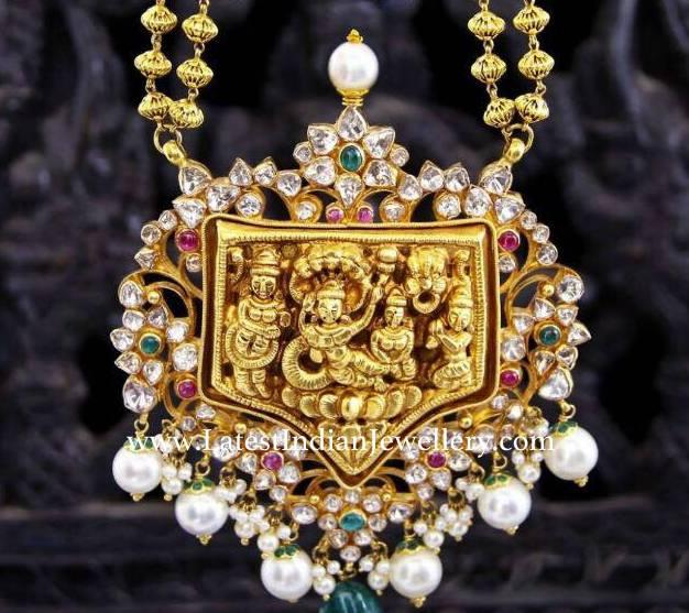 Pachi Work Vaikuntam Pendant