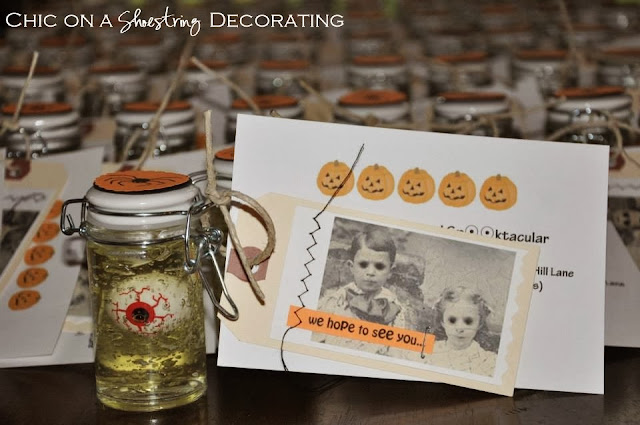 Halloween eyeball party invitations at chic on a shoestring decorating blog