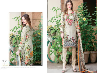 Shaista silk pakistani dresses 2017