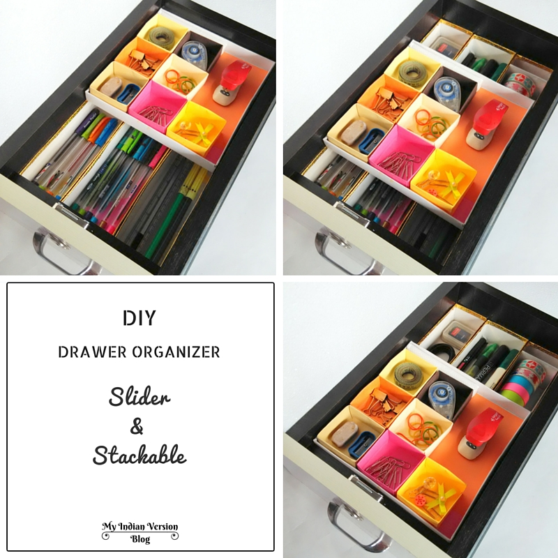 diy office supplies slider stackable drawer organizer myindianversion