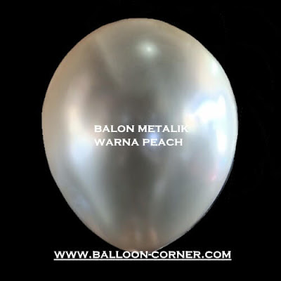 Balon Latex Metalik 12 Inch DECOTEX Warna Peach (New Colour)